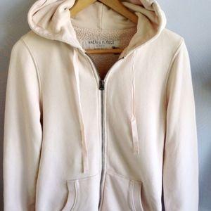 J. CREW Sherpa Fleece Lined Hoodie Ivory XS